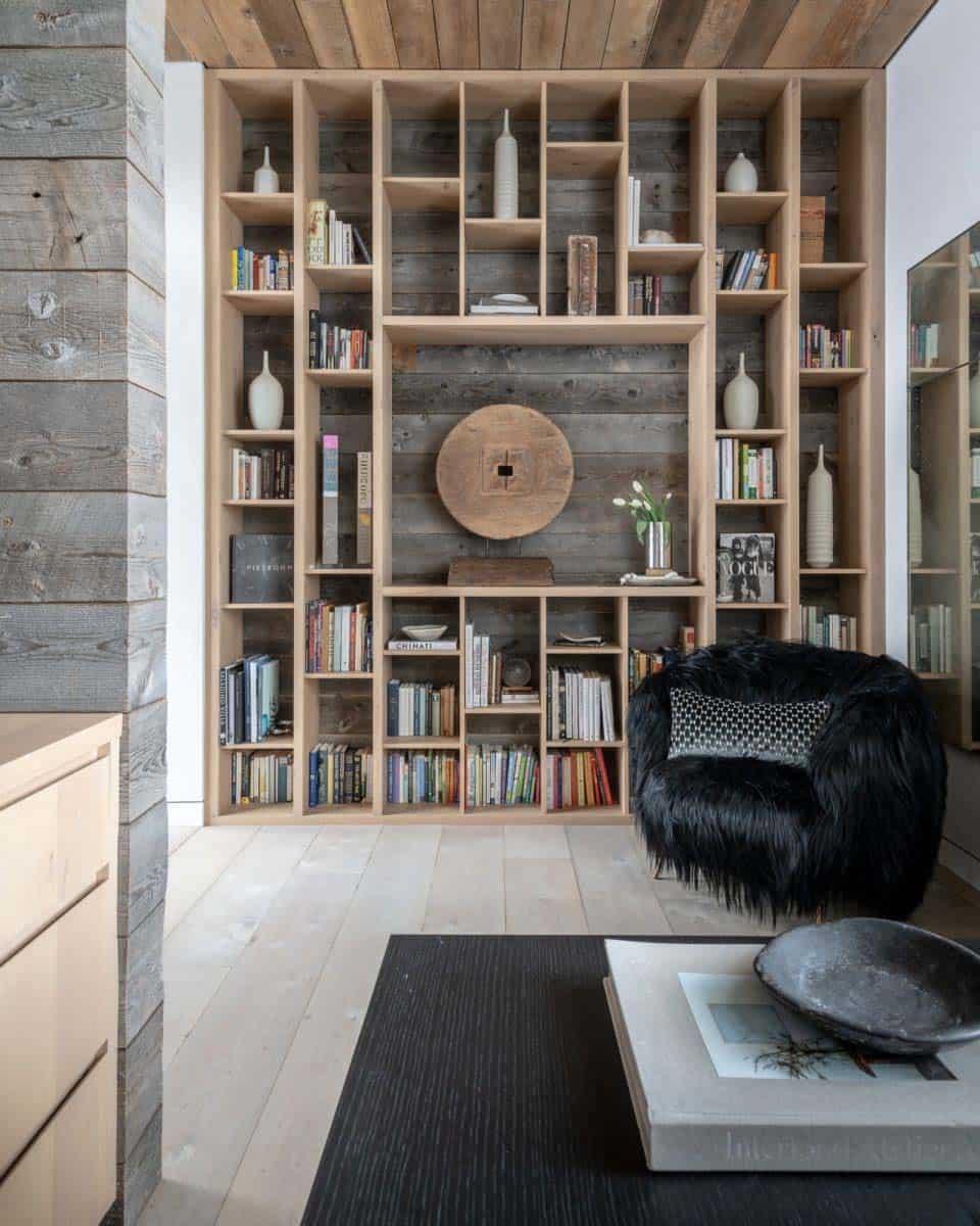 bibliothèque-maison-moderne-montagne