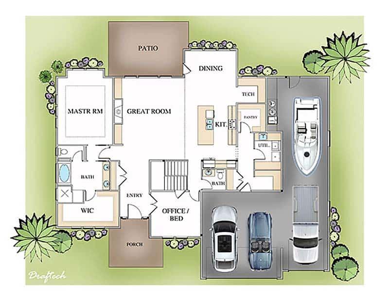 plan-d-étage-ferme-moderne