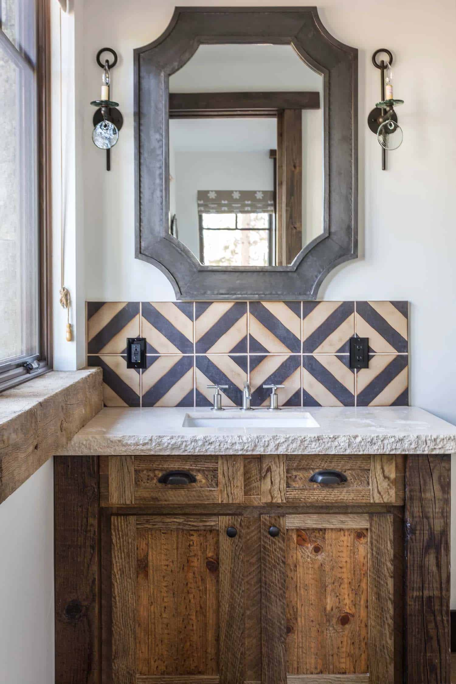 salle de bain-rustique-contemporaine