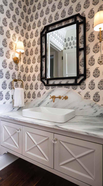 salle de bain en poudre de style traditionnel
