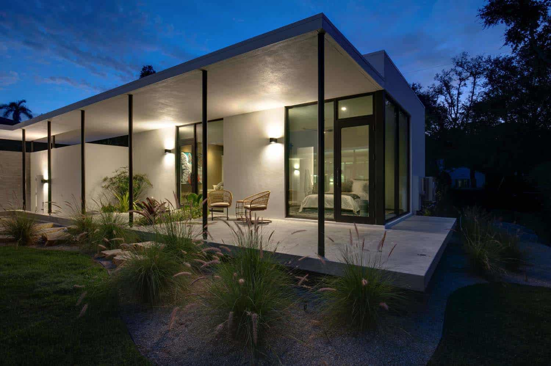 porche-maison-moderne-front de mer