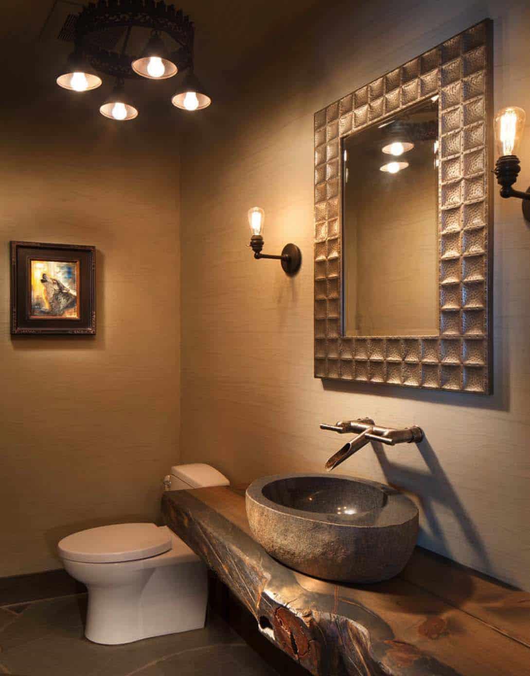 rustique-lac-maison-poudre-salle de bain