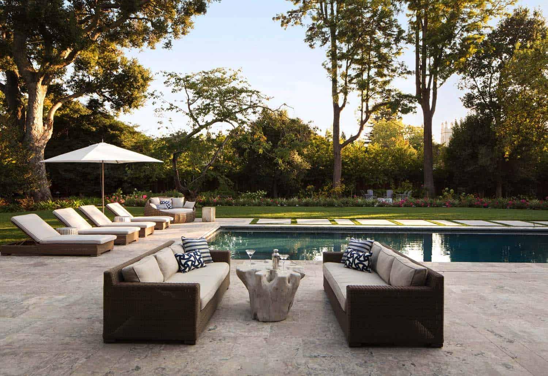 piscine de style ferme