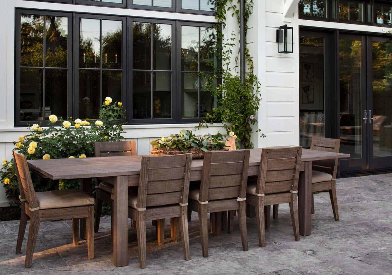 patio de style ferme