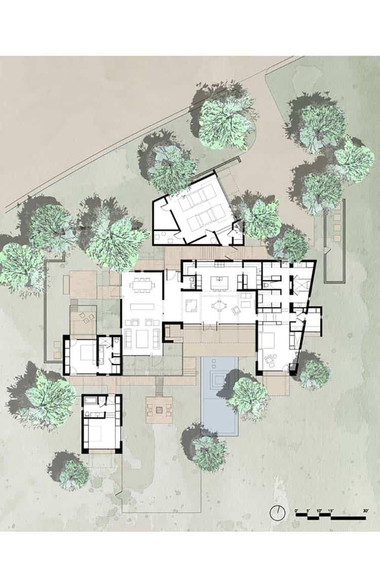 résidence-contemporain-plan-d-étage