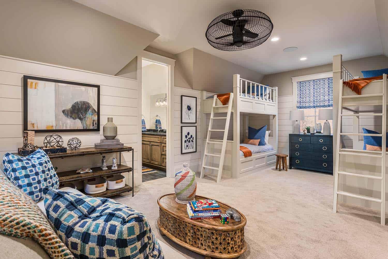 maison-modèle-contemporaine-chambre-enfants-superposés