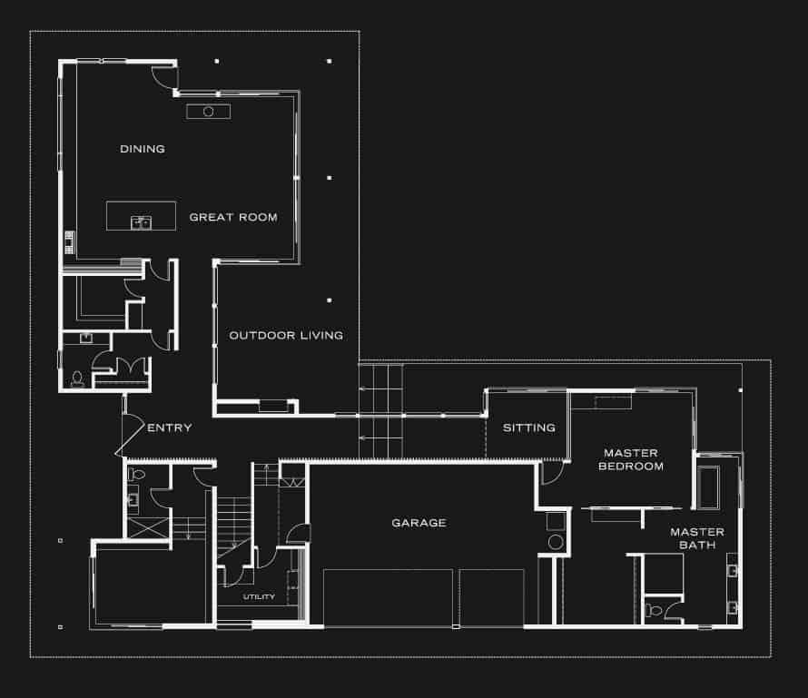 plan-de-maison-asiatique-contemporaine