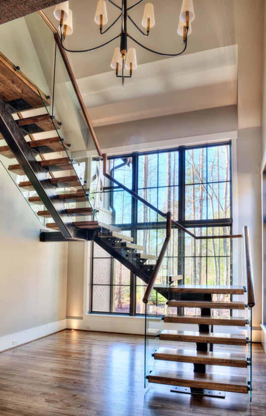 escalier-contemporain-maison-de-montagne-transitoire