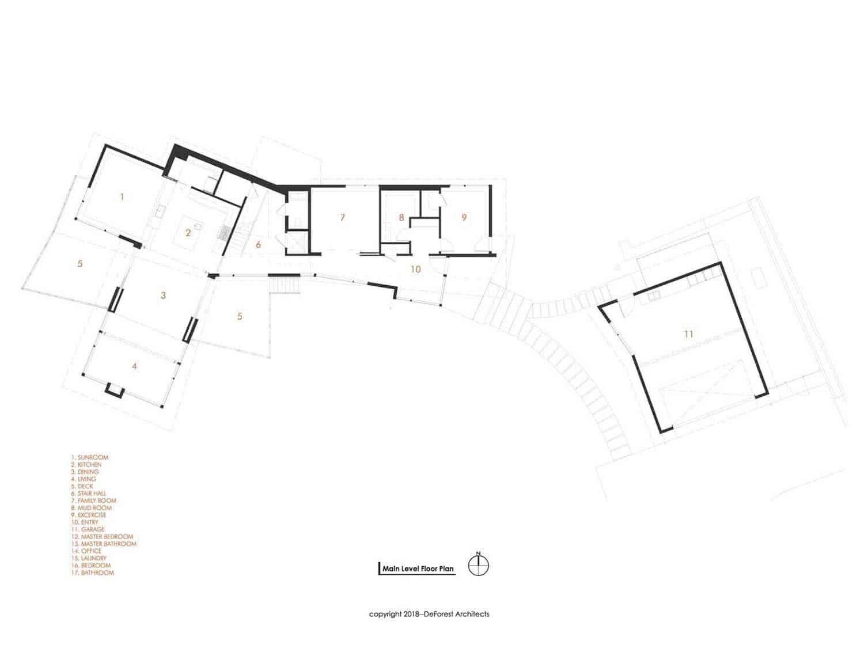 plan-d-étage-moderne-maison-arbre