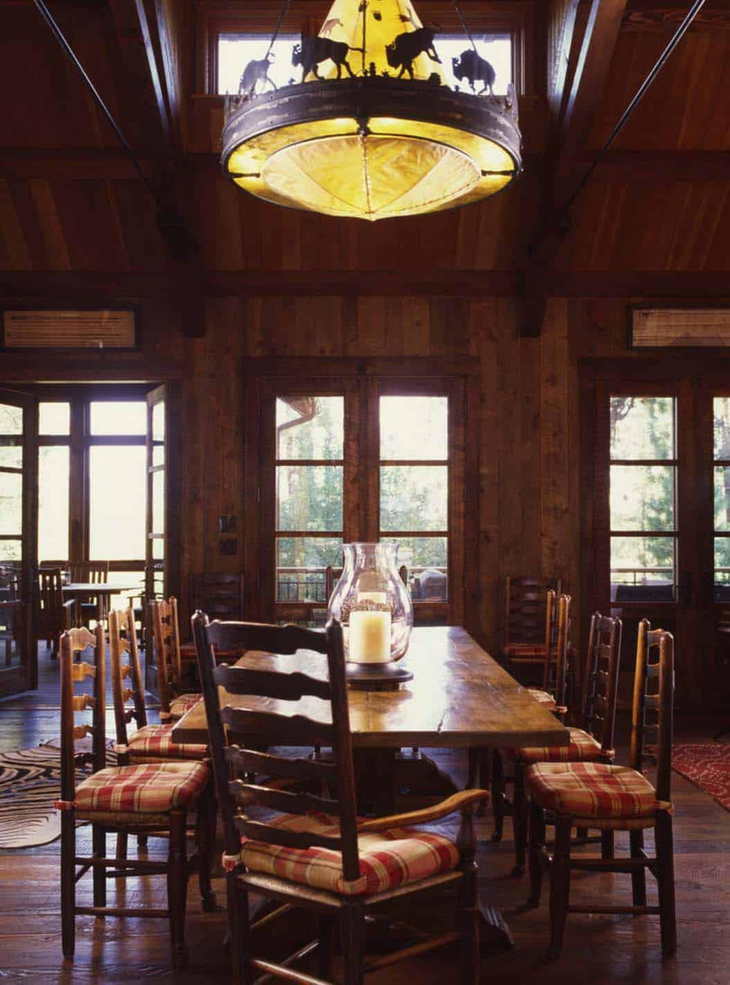 ranch-familial-salle-à-manger-rustique