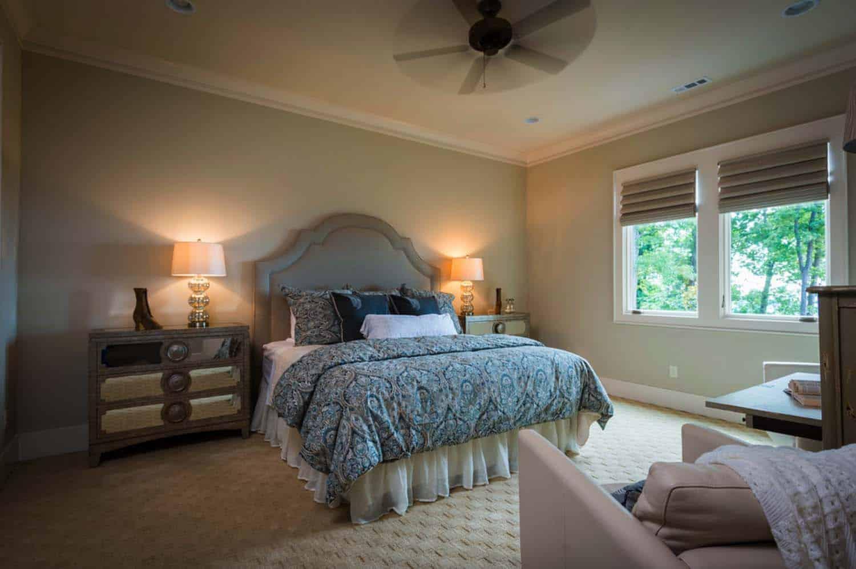 chambre à coucher de style artisan