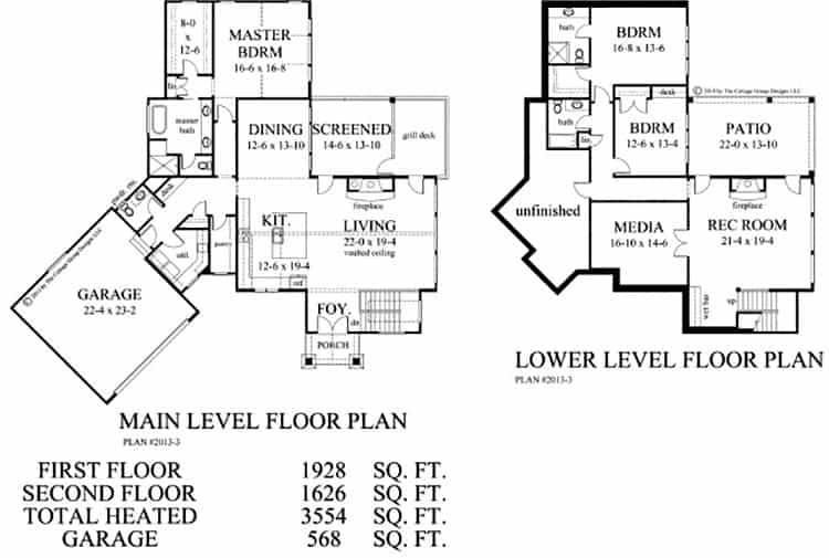 plan d'étage de la maison de style artisanal