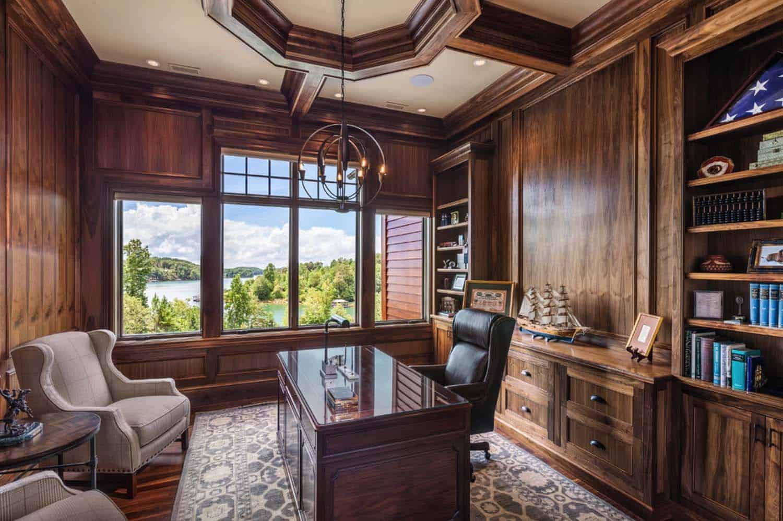 bureau à domicile de style traditionnel