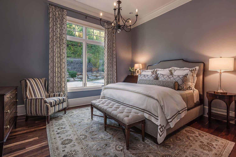chambre à coucher de style traditionnel