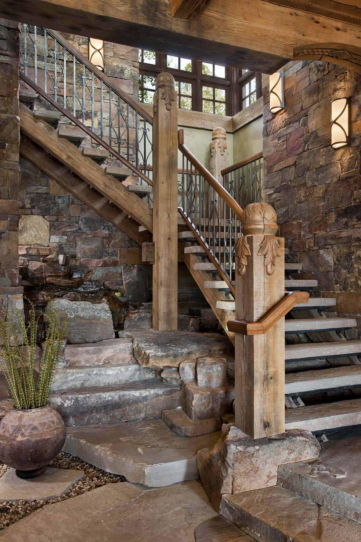 residence-rustique-escalier