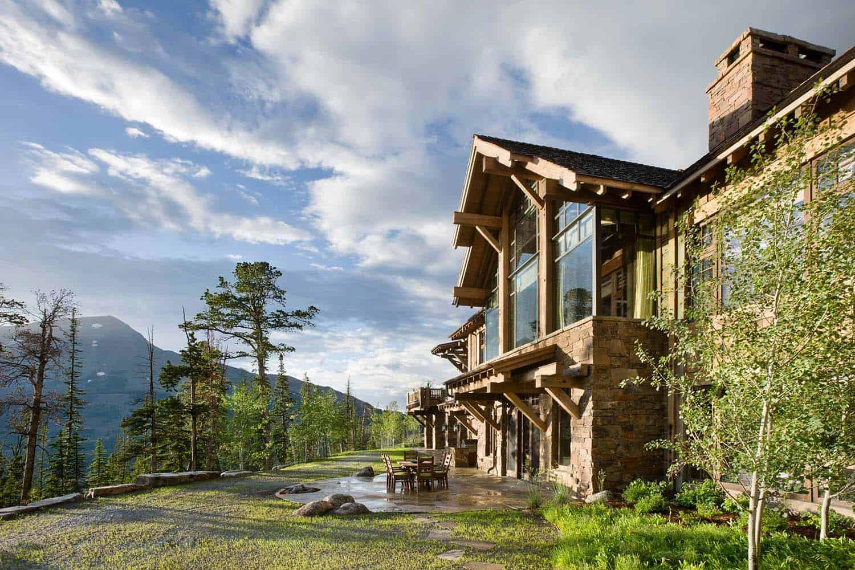 rustique-montagne-maison-extérieur