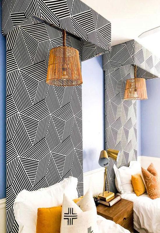 Des idées pour dynamiser le décor avec des motifs géométriques