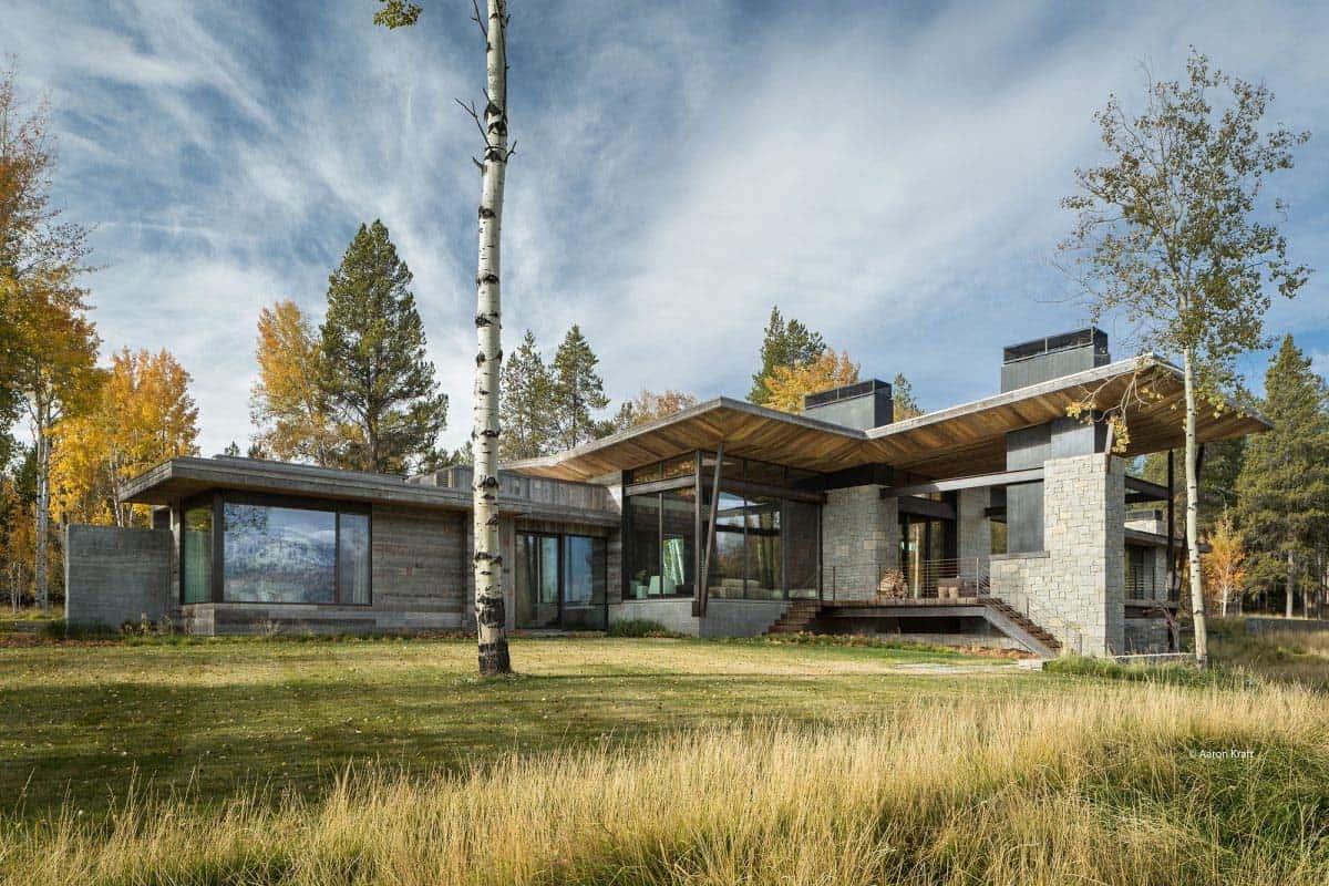 montagne-moderne-maison-extérieur