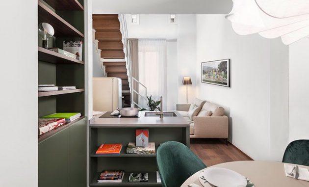 Style élégant et contemporain dans un appartement à Florence
