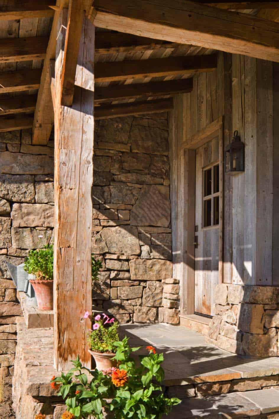 rustique-famille-lodge-grange-porche-reclaimed