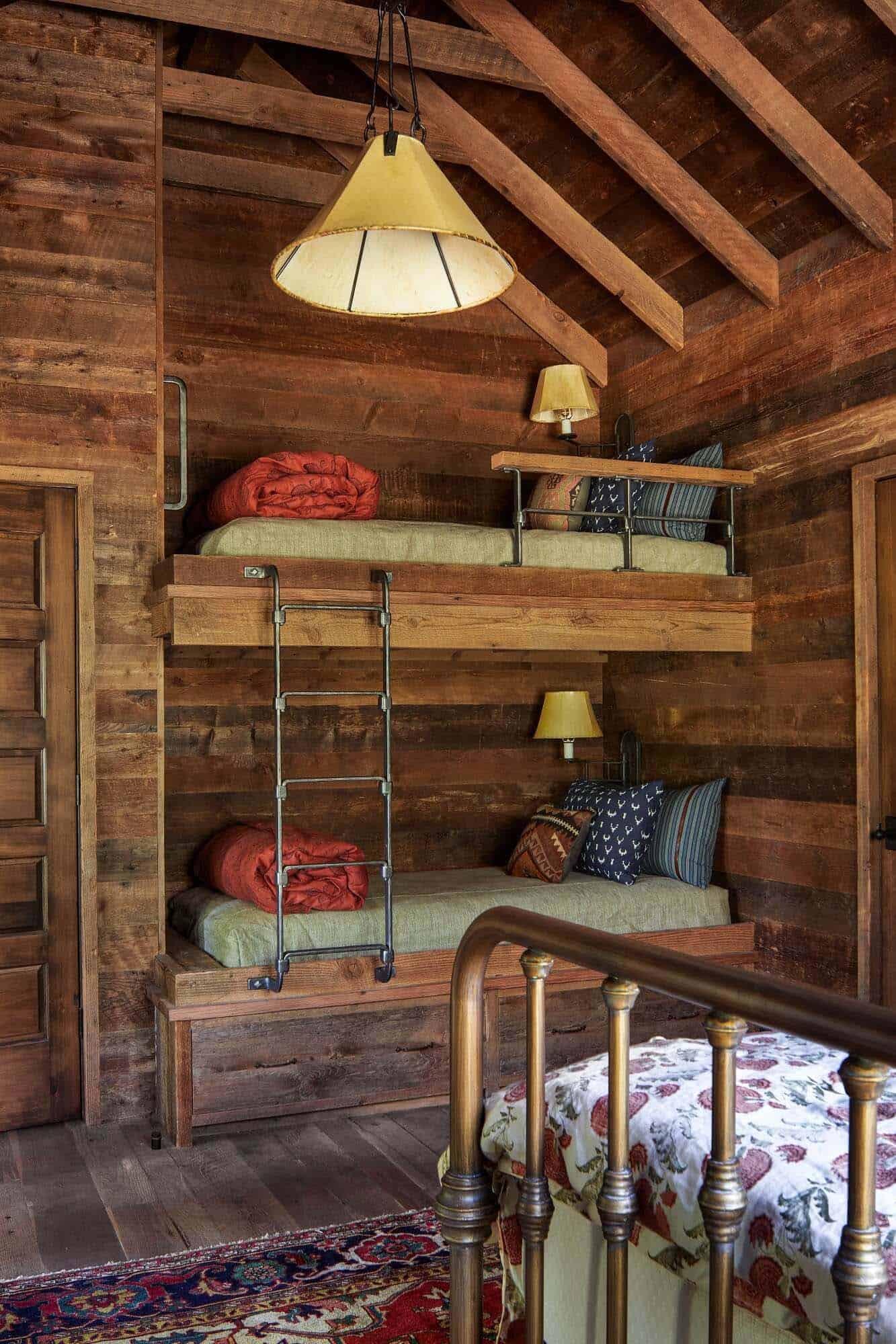 chambre à coucher rustique