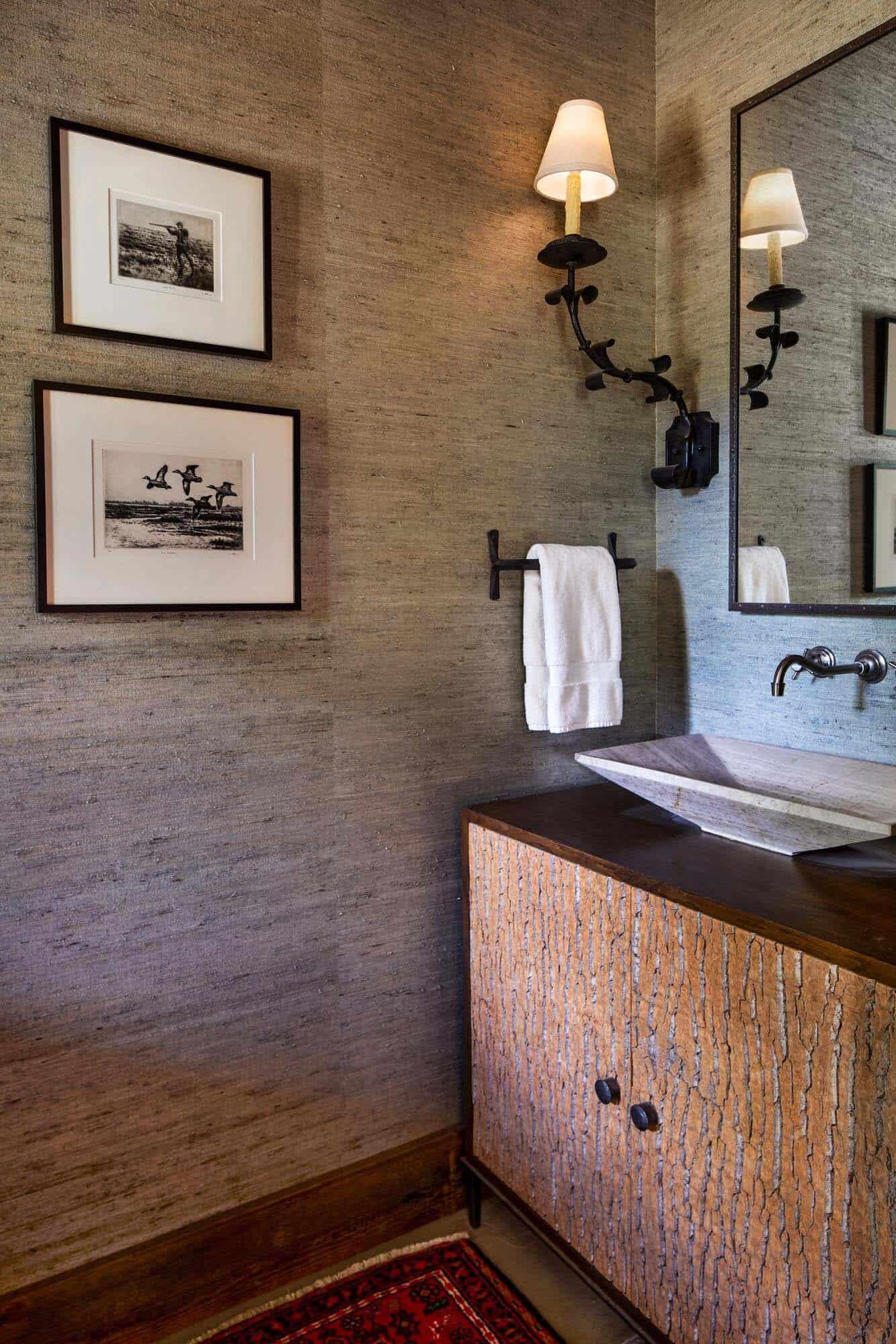 salle de bain rustique