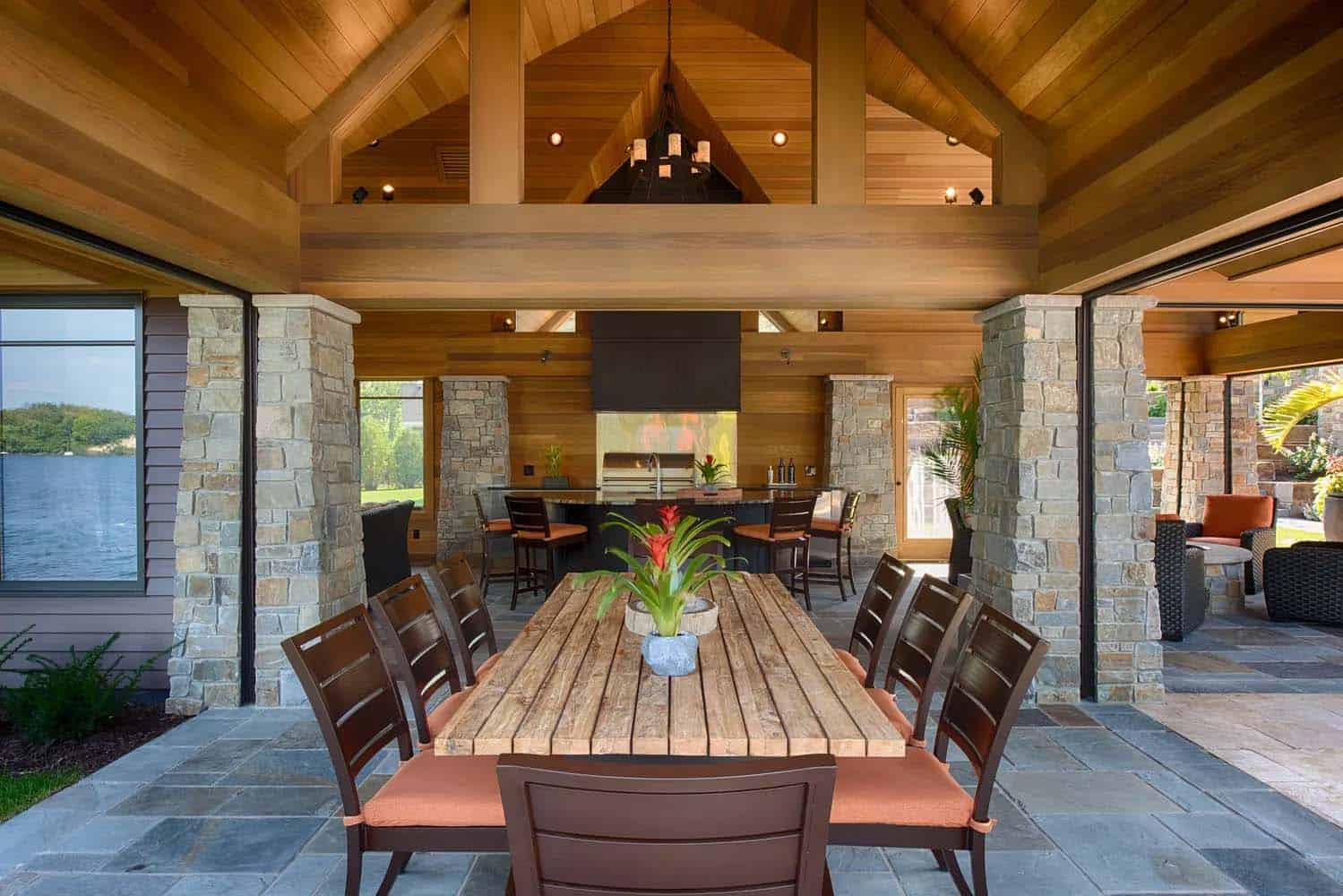 salle-à-manger-poolhouse-moderne
