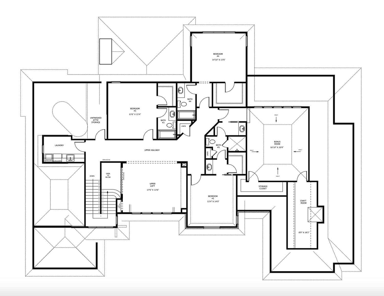 plan-d-étage traditionnel