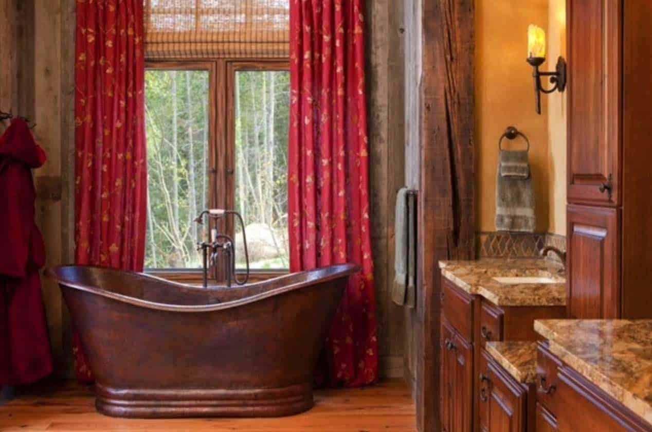 salle de bain-rustique-moderne