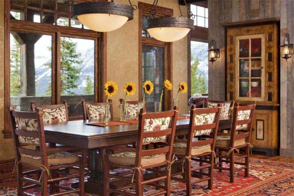 salle-à-manger-rustique-moderne