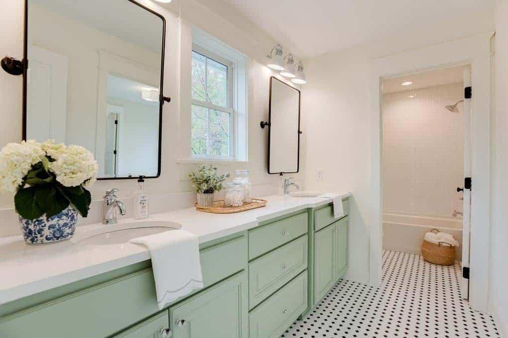 salle de bain style ferme