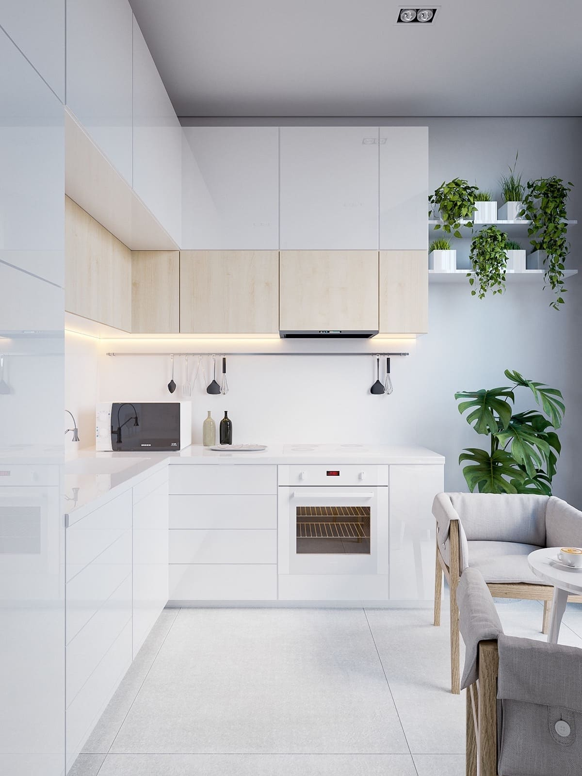 photo de cuisine blanche 23