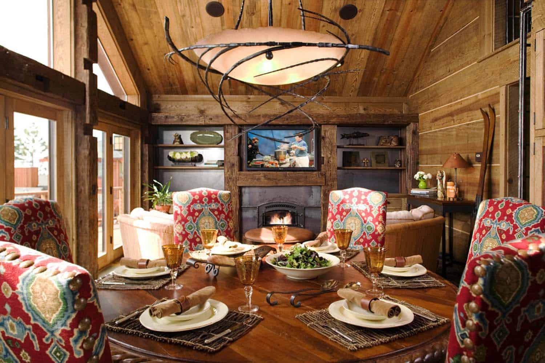 salle-à-manger-rustique-montagne-retraite