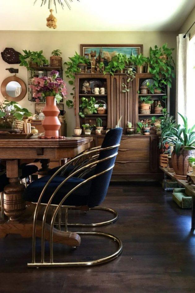 Plantes Vertes Et Meubles Vintage