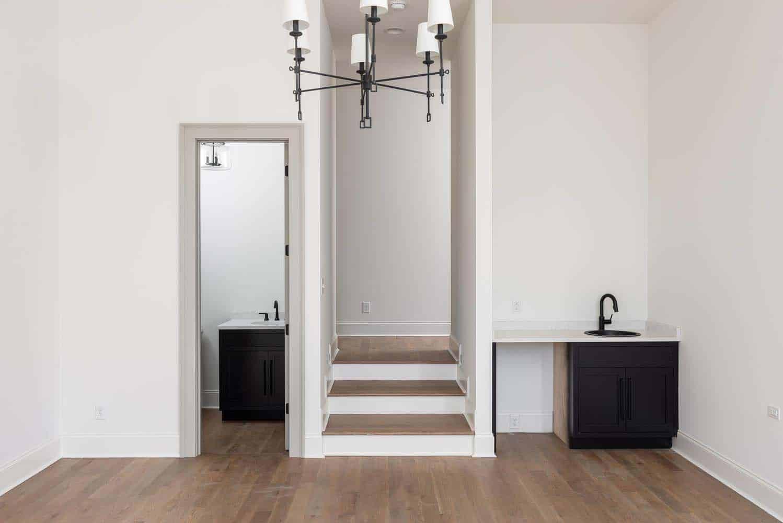 chambre de style transitionnel